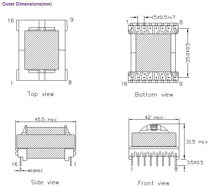 变压器高频变压器(雌激素受体规格系列)